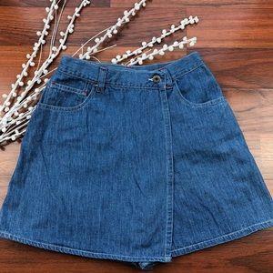 Vintage Ann Taylor denim skirt/shorts (skorts) Sz6
